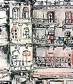 Brasserie-Marcel-Cerdan-Landschaft-Kunst-Zeichnungen-FotoTapeten