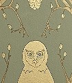 Briar-Owl,-gold-Tiere-Moderne-Muster-Gold-Braun-Olive