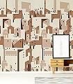 Brown-Edition-Gebäude-Moderne-Muster-Braun-Creme-Hellbraun