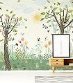 Busy-buzzy-Tiere-Bäume-Landschaft-FotoTapeten-KinderTapeten-Multicolor