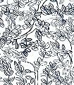 Buxus,-col.02-Blätter-Moderne-Muster-FotoTapeten-Blau-Weiß