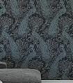 Byron,-col.01-Ornamente-Tiere-Patina-Klassische-Muster-Silber-Anthrazit-Türkis