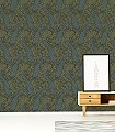 Byron,-col.07-Ornamente-Tiere-Patina-Klassische-Muster-Gold-Türkis-Hellgrün