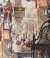Cabaret-Figuren-Moderne-Muster-Multicolor