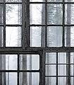Cabin-Bäume-Landschaft-Rahmen-FotoTapeten-Multicolor