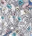 Cactus-garden,-col.-1-Blumen-Tiere-Blätter-Fauna-Florale-Muster-Multicolor