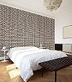 Cadiz-Kachel-Formen-Moderne-Muster-Schwarz-Weiß