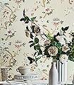 Camellia,-col.-4-Blumen-Blätter-Äste-Florale-Muster-Rot-Blau-Hellgrün-Weiß-Hellbraun
