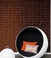 Caprera-Gewebe-Moderne-Muster-Orange-Schwarz