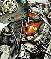 Carambolage,-col.01-Gegenstände-Moderne-Muster-Grau-Orange-Anthrazit-Schwarz