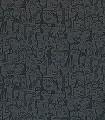 Caras-Tres,-col.02-Gesichter-Zeichnungen-Moderne-Muster-Grau-Anthrazit
