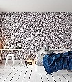 Caras-Tres,-col.04-Gesichter-Zeichnungen-Moderne-Muster-Braun-Weiß