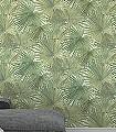Caren,-col.04-Blätter-Stoff-Florale-Muster-Grün-Weiß