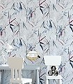 Carizzo,-col.-5-Blätter-Florale-Muster-Blau-Weiß-Creme