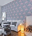 Cassandra,-col.09-Vögel-Flamingos-Moderne-Muster-Rosa-mint