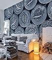 Caviar-L,-black-&-white-Ornamente-Moderne-Muster-FotoTapeten-Schwarz-Weiß