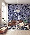 Caviar-L,-blue-Ornamente-Moderne-Muster-FotoTapeten-Blau