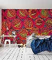 Caviar-L,-conny-island-Ornamente-Kunst-Moderne-Muster-FotoTapeten-Rot