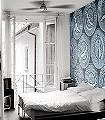 Caviar-L,-petrol-Ornamente-Kunst-Moderne-Muster-FotoTapeten-Blau-Grau