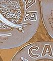 Caviar-S,-orange-blue-Gegenstände-Moderne-Muster-FotoTapeten