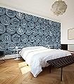 Caviar-S,-petrol-Gegenstände-Moderne-Muster-FotoTapeten-Blau
