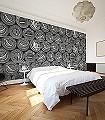 Caviar-S,-schwarz/weiß-Gegenstände-Moderne-Muster-FotoTapeten-Schwarz