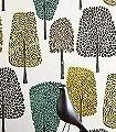 Cedar,-col.03-Bäume-Florale-Muster-Grau-Anthrazit-Türkis-Hellgrün-Weiß