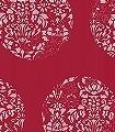 Cerclé,-col.08-Kreise-Blätter-Zeichnungen-Moderne-Muster-Rot-Rosa-Weiß