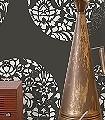 Cerclé,-col.16-Kreise-Blätter-Zeichnungen-Moderne-Muster-Silber-Schwarz-Creme-Perlmutt
