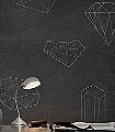 Chalkboard-Formen-FotoTapeten-Anthrazit-Weiß