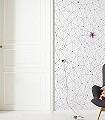 Cherry-Blossom,-Mural-Blumen-Linie-Dreiecke-FotoTapeten-Schwarz-Weiß-Pink