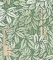 Chiavi-Segrete,-col.-8-Blätter-Florale-Muster-Grün-Gold