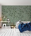 Chinoiserie-Chic,-Jade-Blumen-Tiere-Blätter-Vögel-Äste-Klassische-Muster-Florale-Muster-FotoTapeten-Multicolor