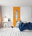 Chrona,-col.02-Figuren-Kunst-Zeichnungen-Moderne-Muster-FotoTapeten-Orange-Anthrazit-Weiß