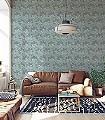 Clara-Blumen-Ranken-Florale-Muster-Jugendstil-Grün-Hellgrün