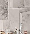 Cleopatra-Formen-Gesichter-3D-Tapeten-Moderne-Muster-FotoTapeten-Grau-Creme