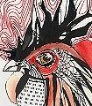 Cock-Vögel-Zeichnungen-Aquarell-FotoTapeten