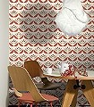 Cookies,-col.01-Blumen-Graphisch-Moderne-Muster-70.-Jahre-Rot-Braun-Creme-Hellbraun