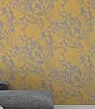 Coquette,-col.03-Blumen-Florale-Muster-Silber-Gelb