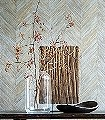 Corteza,-col.-200-Holz-Florale-Muster-Hellbraun
