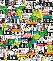 Crispin,-col.07-Bäume-Gebäude-Zeichnungen-KinderTapeten