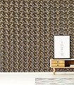 Cube,-col.-3-Gebäude-Klassische-Muster-Fauna-Gelb-Schwarz-Creme