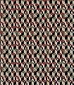 Cube,-col.-50-Gebäude-Klassische-Muster-Fauna-Rot-Schwarz-Creme