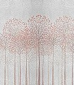DECORUM-Bäume-Florale-Muster-Moderne-Muster-FotoTapeten-Rot-Creme