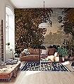 DREAMLIKE-LANDSCAPE-Blumen-Bäume-Landschaft-Blätter-Florale-Muster-FotoTapeten-Multicolor
