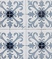 Damascus-Kachel-Blau-Anthrazit-Weiß