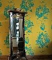 Decouper-Toile-3,-turquoise-on-gold---Ornamente-Figuren-Moderne-Muster-Gold-Türkis