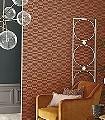 Delta-Circles,-col.-4-Kreise-Grafische-Muster-Art-Deco-Gold-weinrot