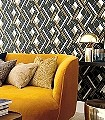 Delta-Shapes,-col.-2-Kreise-Grafische-Muster-Art-Deco-Blau-Gold-Anthrazit-Weiß-Hellbraun