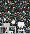 Denice,-col.02-Blumen-Schmetterlinge-Florale-Muster-Anthrazit-Schwarz-Multicolor